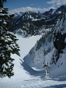 Couloir off chair peak