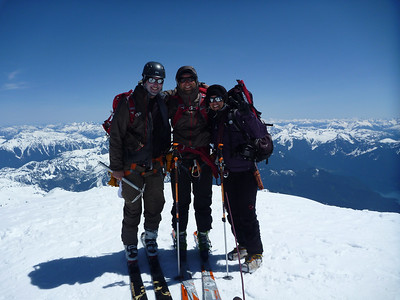 Myself, Shawn and Becky on the summit