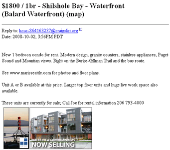 388388366 eS6sL S Maris Shilshole Condos Also Going Rental