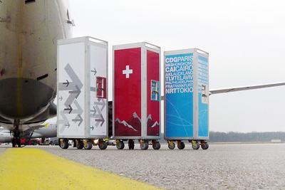 Airplane trolley repurposed